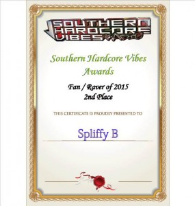 Spliffy B comes 2nd in best Raver category