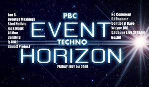 Pbc Presents: Event Horizon: Pbc Techno